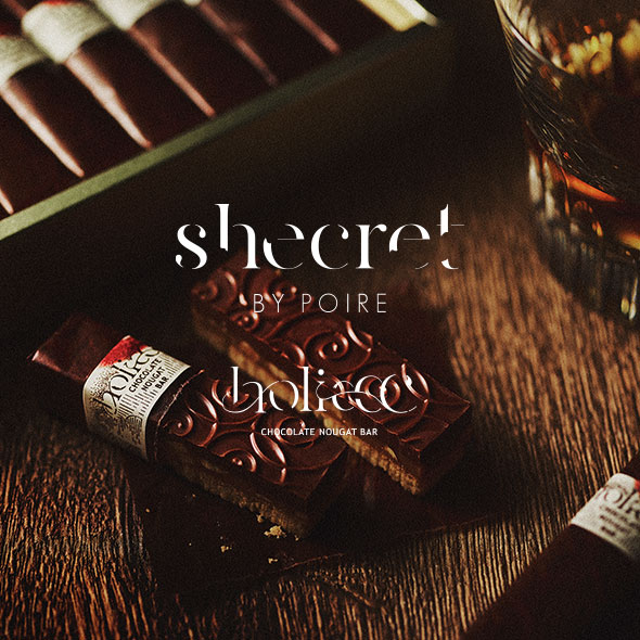 shecret BY POIRE holiccc CHOCOLATE NOUGAT BAR